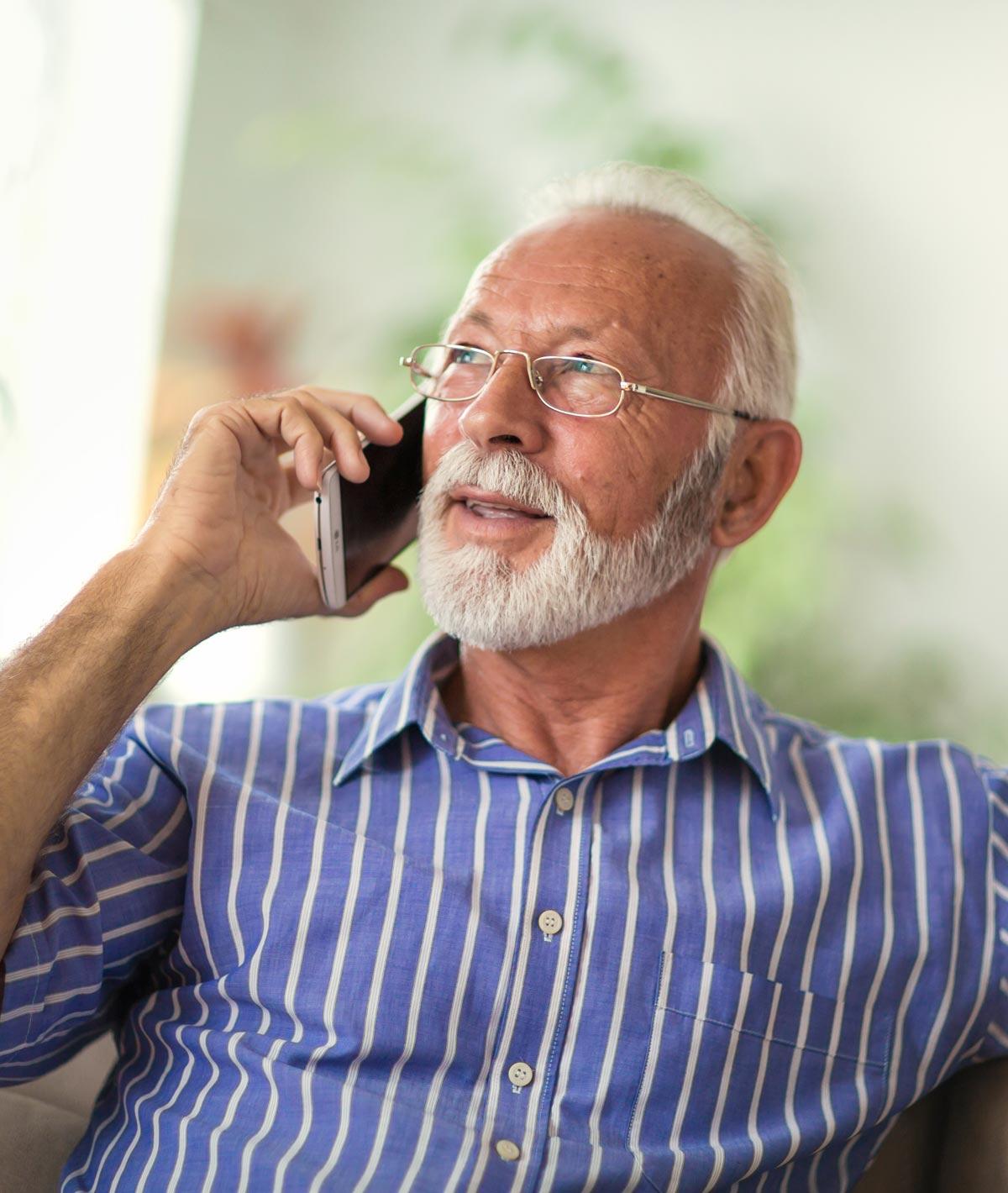 Senior Man on Mobile Phone