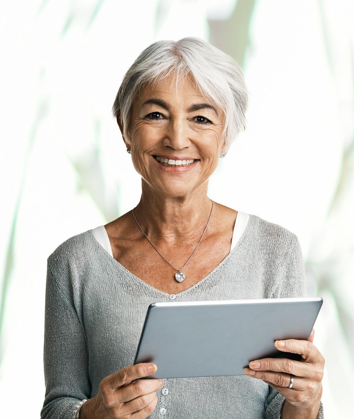 Senior Woman on Digital Tablet